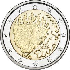 Suomi 2016 2 € Eino Leino UNC