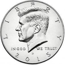 "USA 2015 $0.50 Kennedy ""D"" UNC"