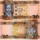 Etelä-Sudan 2015/2016 20 Pounds P UNC
