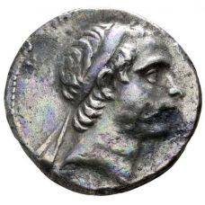 Antiochos Tetradrachm Apollo Poetry