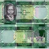 Etelä-Sudan 2011 1 Pound P5 UNC