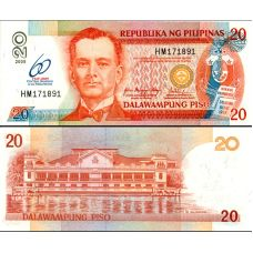Filippiinit 2009 20 Pesos P198 60th Central Bank UNC