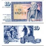 Islanti 1961 10 Kronur P48a-4 UNC