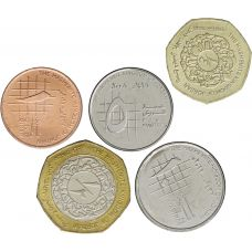 Jordania 2008-2012 1-25 Piastres 1/4-1/2 Dinar UNC