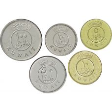 Kuwait 2011-2013 5-100 Fils UNC