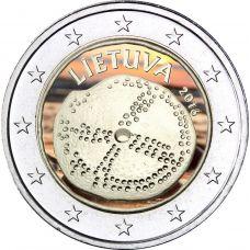 Liettua 2016 2 € Baltian kulttuuri VÄRITETTY