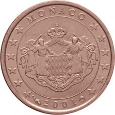 Monaco 2001 1 c UNC