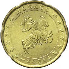 Monaco 2003 20 c UNC