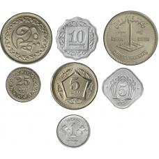 Pakistan 1 paise - 5 rupees UNC