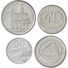 Paraguay 2007-2011 50-1000 Guaranies UNC