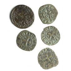 Rooman valtakunta / Ristiretket kuparirahat 5kpl