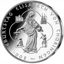 Saksa 2007 10 € Elisabeth von Thüringen HOPEA UNC