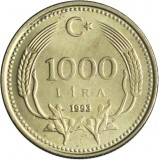 Turkki 1993 1000 Lira UNC