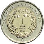 Turkki 2016 1 Lira Dormouse UNC