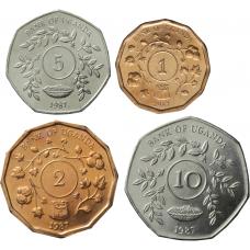 Uganda 1987 1-10 Shillings UNC