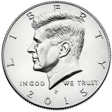 "USA 2015 $0.50 Kennedy ""P"" UNC"