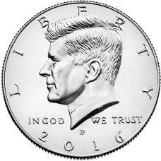 "USA 2016 $0.50 Kennedy ""P"" UNC"
