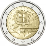 Andorra 2015 2 € Tullisopimus 25 vuotta BU