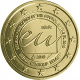 Belgia 2010 2 € Belgian EU-puheenjohtajakausi vuonna 2010 KULLATTU
