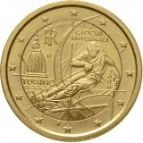 Italia 2006 2 € Torinon olympialaiset KULLATTU
