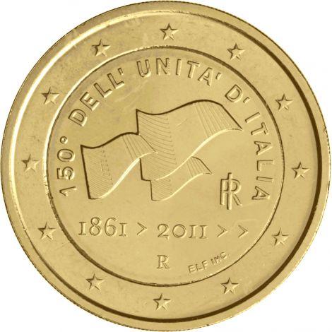 Italia 2011 2 € 150 vuotta Italian yhdistymisestä KULLATTU