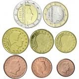 Luxemburg 2002 1 c - 2 € Irtokolikot UNC