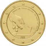 Malta 2011 2 € Vaalit 1849 KULLATTU
