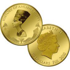 "Fiji 2010 10 $ ""Nefertiti"" KULTA"