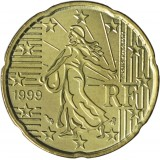 Ranska 1999 20 c UNC