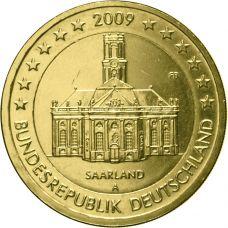 Saksa 2009 2 € Saarland A KULLATTU