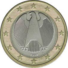 Saksa 2002 1 € A UNC