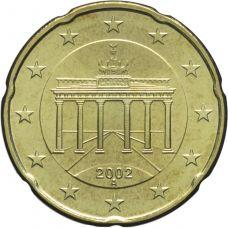 Saksa 2002 20 c A UNC
