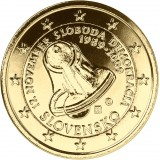 Slovakia 2009 2 € Demokratia KULLATTU