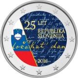 Slovenia 2016 2 € Itsenäisyys 25 vuotta VÄRITETTY