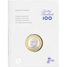 Suomi 2016 5 € Suomen presidentit - P.E. Svinhufvud PROOF