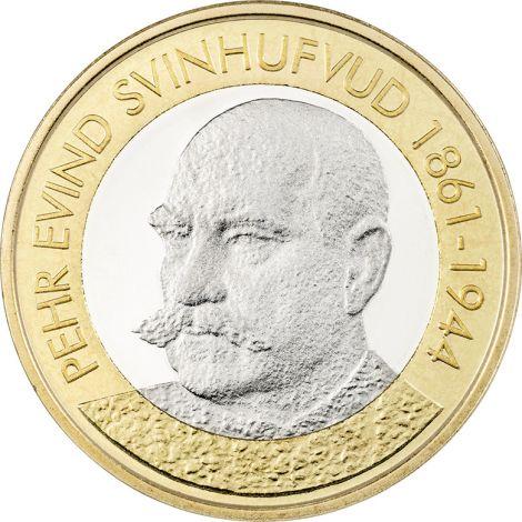 Suomi 2016 5 € Suomen presidentit - P.E. Svinhufvud UNC