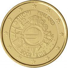Suomi 2012 2 € Euro 10 vuotta KULLATTU