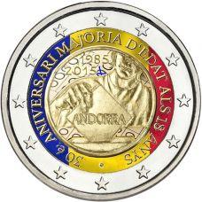 Andorra 2015 2 € Täysi-ikäisyys VÄRITETTY