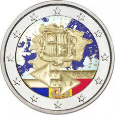 Andorra 2015 2 € Tullisopimus 25 vuotta VÄRITETTY