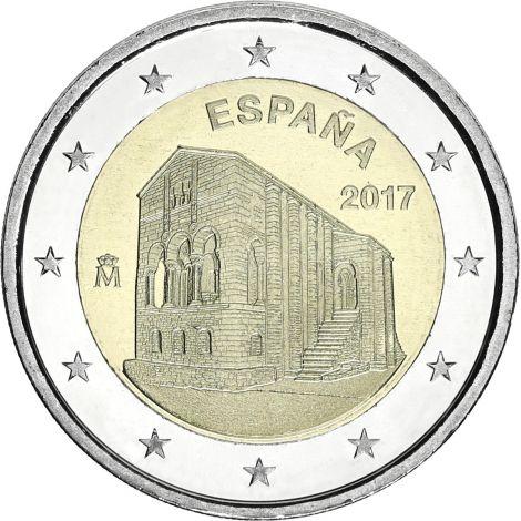 Espanja 2017 2 € Asturiasin kuningaskunnan kirkot UNC