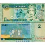 Fiji 2002 2 Dollars P104a UNC