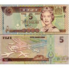 Fiji 2002 5 Dollars P105b UNC