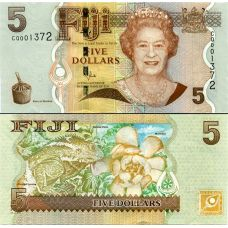 Fiji 2012 5 Dollars P110b UNC