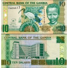 Gambia 2013 10 Dalasis P26c UNC