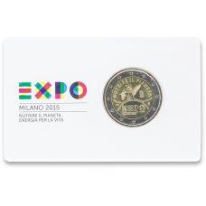 Italia 2015 2 € Milanon maailmannäyttely COINCARD