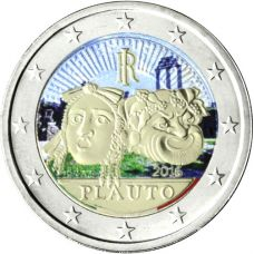Italia 2016 2 € Titus Maccius Plautuksen kuoleman 2 200. vuosipäivä VÄRITETTY