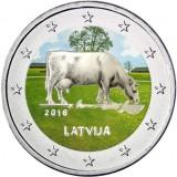 Latvia 2016 2 € Maatalousala VÄRITETTY