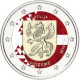 Latvia 2016 2 € Vidzeme VÄRITETTY