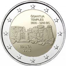 """Malta 2016 2 € Ggantijan temppelit """"F"""" BU"""