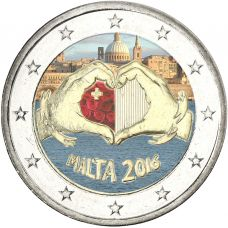 Malta 2016 2 € Rakkaus VÄRITETTY